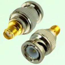 RF Adapter BNC Male Plug to SMA Female Jack