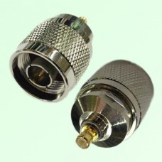 RF Adapter MCX Male Plug to N Male Plug