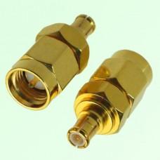 RF Adapter MCX Male Plug to SMA Male Plug