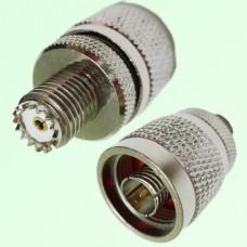 RF Adapter Mini UHF Female Jack to N Male Plug