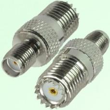 RF Adapter Mini UHF Female Jack to SMA Female Jack