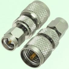 RF Adapter Mini UHF Male Plug to SMA Male Plug