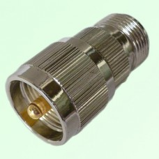 RF Adapter N Female Jack to UHF PL259 Male Plug