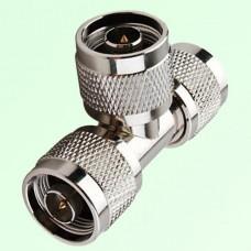 T Type Three N Male Plug Adapter N to N to N