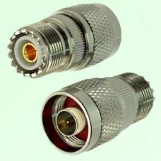 RF Adapter N Male Plug to UHF SO239 Female Jack