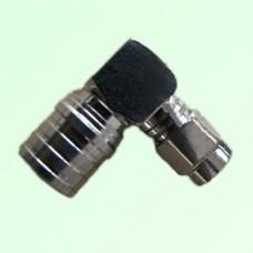 Right Angle QMA Male Plug to SMA Male Plug Adapter