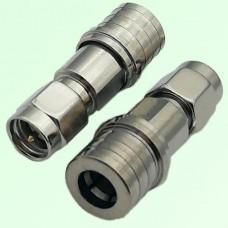 RF Adapter QMA Male Plug to SMA Male Plug