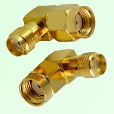 Right Angle RP SMA Male Plug to SMA Female Jack Adapter