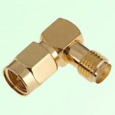Right Angle SMA Female Jack to SMA Male Plug Adapter