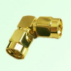 Right Angle SMA Male Plug to SMA Male Plug Adapter