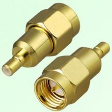 RF Adapter SMA Male Plug to SSMB Male Plug