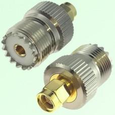 RF Adapter SMA Male Plug to UHF SO239 Female Jack