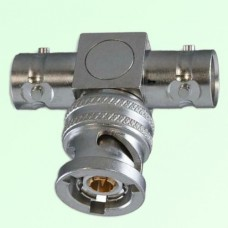 T Type TRB 3 Lugs Male Plug to Two TRB 3 Lugs Female Jack Adapter
