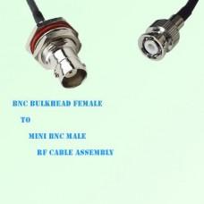 BNC Bulkhead Female to Mini BNC Male RF Cable Assembly