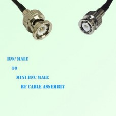 BNC Male to Mini BNC Male RF Cable Assembly