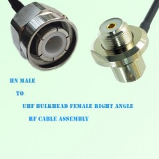 HN Male to UHF Bulkhead Female Right Angle RF Cable Assembly