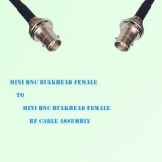 Mini BNC Bulkhead Female to Mini BNC Bulkhead Female RF Cable Assembly
