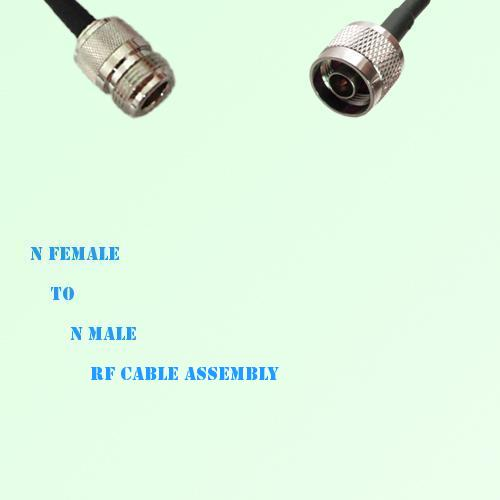 N Female to N Male RF Cable Assembly