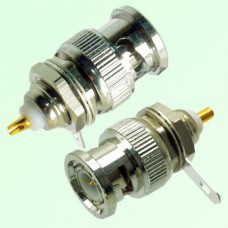 BNC Bulkhead Male Front Mount Solder Cup Connector
