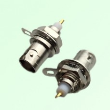 Mini BNC Bulkhead Female Front Mount Solder Cup Connector