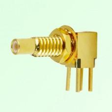 SSMC Bulkhead Male Right Angle PCB Mount Connector