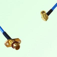 Semi-Flexible Jumper BMA 2 Hole Panel Mount Male to SMB Female Right Angle