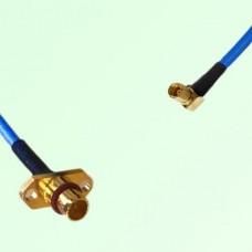 Semi-Flexible Jumper BMA 2 Hole Panel Mount Male to SSMC Female Right Angle