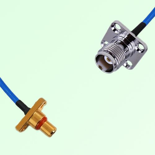 Semi-Flexible Jumper SBMA 2 Hole Panel Mount Male to TNC 4 Hole Panel Mount Female