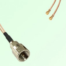 Splitter Y Type Cable FME Male to IPEX Default