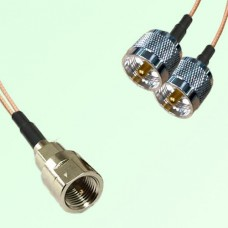 Splitter Y Type Cable FME Male to UHF Male