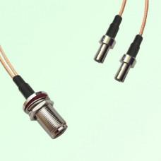 Splitter Y Type Cable N Bulkhead Female to TS9 Male