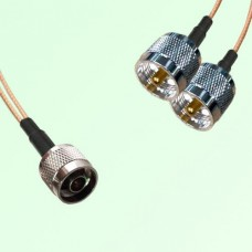 Splitter Y Type Cable N Male to UHF Male