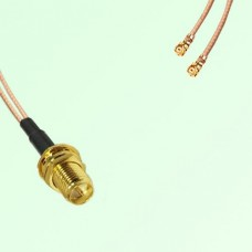 Splitter Y Type Cable RP SMA Bulkhead Female to IPEX Default