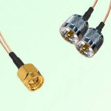 Splitter Y Type Cable SMA Male to UHF Male